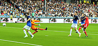Fotball Herrer UEFA Europa League 2013<br /> Marienlyst Stadion Gamle Gress  18.07.2013<br /> <br /> Strømsgodset vs Debrecen<br /> <br /> Resultat <br /> <br /> Foto: Robert Christensen Digitalsport<br /> <br /> Strømsgodset keeper Lars Stubhaug ser ballen gå forbi<br /> <br /> Debrecen målscorer Ibrahim Sibide scorer