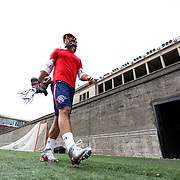 Paul Rabil #99 of the Boston Cannons walks off the field prior to the game at Harvard Stadium on April 27, 2014 in Boston, Massachusetts. (Photo by Elan Kawesch)