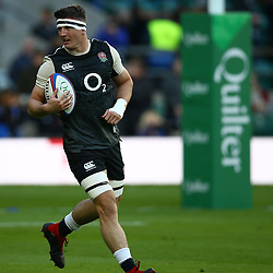 LONDON, ENGLAND - NOVEMBER 03: Tom Curry of England during the Castle Lager Outgoing Tour match between England and South Africa at Twickenham Stadium on November 03, 2018 in London, England. (Photo by Steve Haag/Gallo Images)