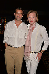 Patrick Grant and Henry Conway at the Quaglino's Q Legends Summer Launch Party hosted by Henry Conway at Quaglino's, 16 Bury Street, London England. 18 July 2017.