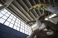 Carro allegorico in costruzione.<br /> Il carnevale di Gallipoli &egrave; tra i pi&ugrave; noti della Puglia. La sua tradizione &egrave; antichissima ed &egrave; documentata, oltre che in atti e documenti settecenteschi, anche da radici folcloristiche che affondano le origini in epoca medioevale, tramandate fino ad oggi dallo spirito popolare. La prima edizione (per come la conosciamo) risale al 1941; nel 2014 sar&agrave; l&rsquo;edizione numero 73.<br /> La manifestazione carnascialesca &egrave; organizzata dall&rsquo; Associazione Fabbrica del Carnevale, nata nel febbraio 2013 con la finalit&agrave; di&nbsp;organizzare, promuovere e riportare in auge il Carnevale della Citt&agrave;&nbsp;di Gallipoli. L&rsquo;Associazione raccoglie al suo interno i maestri cartapestai Gallipolini e tanti giovani artisti, che vogliono valorizzare il Carnevale della citt&agrave; bella. Presidente dell&rsquo;Associazione &egrave; Stefano Coppola.<br /> La manifestazione ha inizio il 17 gennaio, giorno di sant'Antonio Abate (te lu focu = del fuoco), con la Grande Festa del Fuoco, quando si accende con la tradizionale focara, un grande fal&ograve; di rami d'ulivo. L'ultima domenica di carnevale e il marted&igrave; grasso lungo corso Roma, nel centro cittadino, si svolge la sfilata dei carri allegorici in cartapesta e dei gruppi mascherati corso Roma davanti a migliaia di spettatori provenienti da tutta la provincia di Lecce e da citt&agrave; pugliesi. Il tema dell&rsquo;edizione di quest&rsquo;anno &egrave; un omaggio a Walter Elias Disney.<br /> <br /> Float under construction.<br /> The Carnival of Gallipoli is among the best known of Puglia. Its tradition is very old and is documented , as well as records and documents in the eighteenth century , as well as folkloric roots that sink their roots in medieval times , handed down today by the popular spirit . The first edition dates back to 1941 and in 2014 will be the edition number 73 .<br /> The carnival is organized by the Associatio