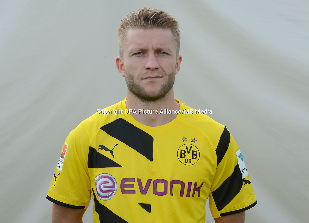 German Soccer Bundesliga - Photocall Dortmund on August 11, 2014: Jakub Blaszczykowski.