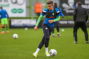 Forest Green Rovers Charlie Cooper(15) warming up during the EFL Cup match between Forest Green Rovers and Milton Keynes Dons at the New Lawn, Forest Green, United Kingdom on 8 August 2017. Photo by Shane Healey.