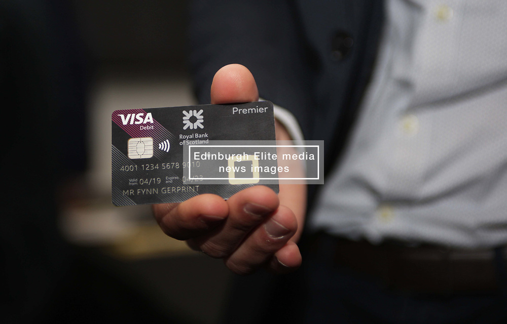A sample biometric fingerprint card launched by RBS to be tested by 200 customers. pic copyright Terry Murden @edinburghelitemedia