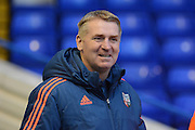 Brentford manager Dean Smith during the Sky Bet Championship match between Birmingham City and Brentford at St Andrews, Birmingham, England on 2 January 2016. Photo by Alan Franklin.