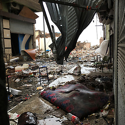 View of the destruction in the Savas neighborhood in the Sur district, Diyarbakir, Turkey on March 22, 2017.