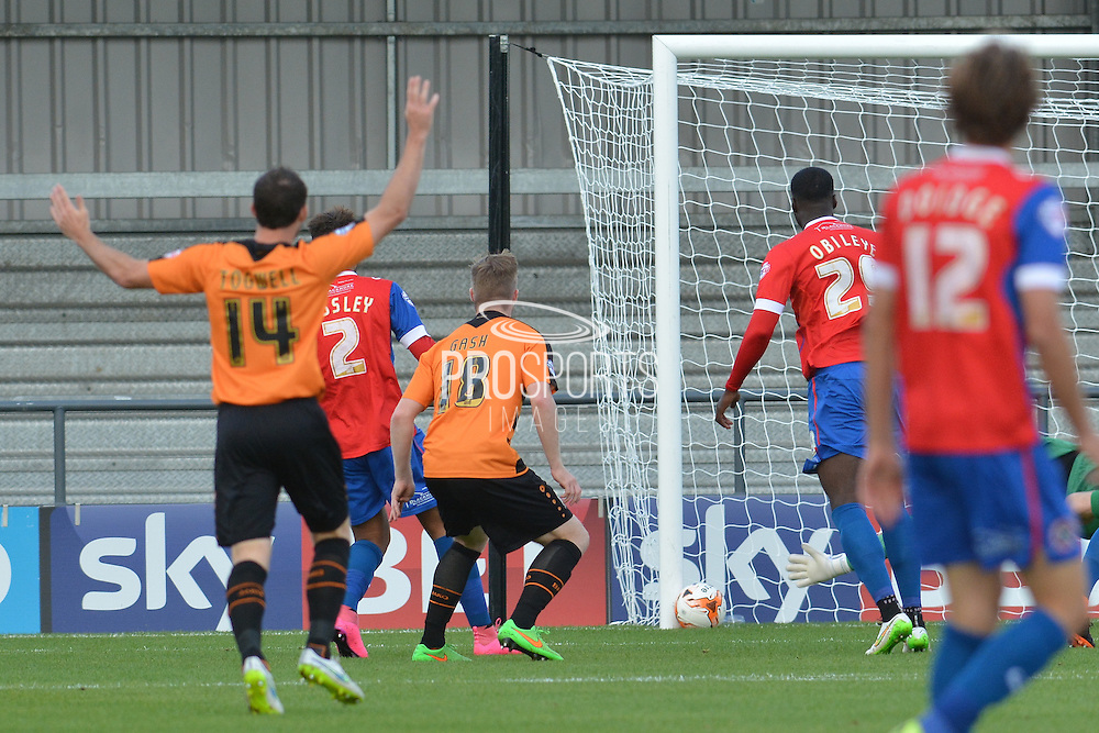 Michael Gash of Barnet scores first goal for Barnet during the Sky Bet League 2 match between Barnet and Dagenham and Redbridge at Hive Stadium, London, England on 26 September 2015. Photo by Ian Lyall.