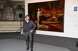"""Artist RALPH HEIMANS at a private view to view """"The Coronation Theatre: Portrait of Her Majesty Queen Elizabeth II"""" painted by Ralph Heimans held at Westminster Abbey, London on 12th September 2013."""