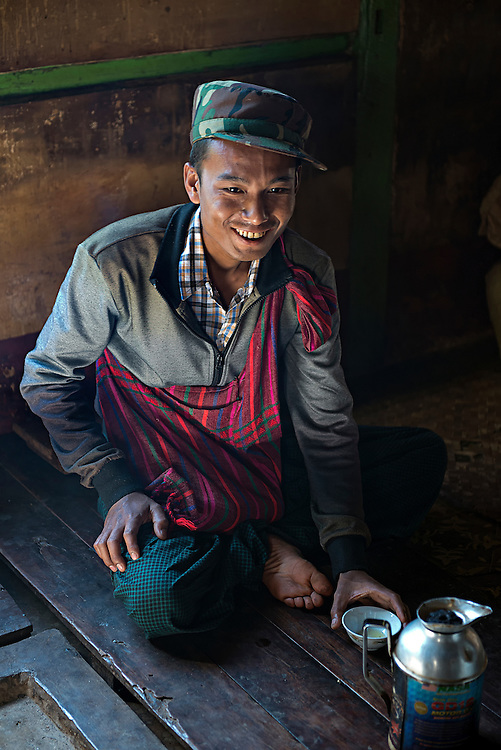 A tea farmer in the northern Shan state, Myanmar.