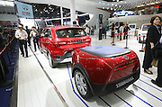 BEIJING, CHINA - APRIL 25: (CHINA OUT) <br /> <br /> A BAIC Motor EX200 EV electric sports utility vehicle (SUV) is on display at the Beijing International Automotive Exhibition on April 25, 2016 in Beijing, China. <br /> ©Exclusivepix Media