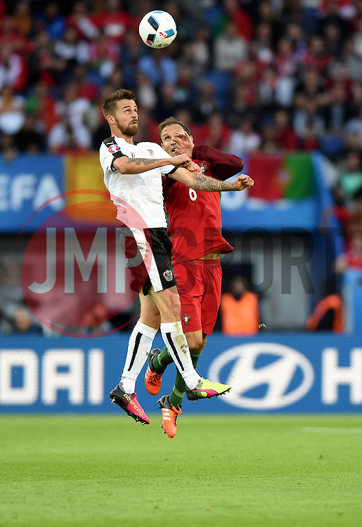 Ricardo Carvalho of Portugal battles for the high ball with Martin Harnik of Austria  - Mandatory by-line: Joe Meredith/JMP - 18/06/2016 - FOOTBALL - Parc des Princes - Paris, France - Portugal v Austria - UEFA European Championship Group F