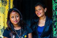 Young Nepalese women, Kathmandu, Nepal.
