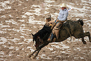 "Saddle Bronc Rider John ""Jake"" Dekoeyer earns a reride after an attempt on 120 Mike JK, 28 July 2007, Cheyenne Frontier Days"