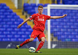 LONDON, ENGLAND - Friday, April 17, 2015: Liverpool's Daniel Cleary in action against Tottenham Hotspur during the Under 21 FA Premier League match at White Hart Lane. (Pic by David Rawcliffe/Propaganda)