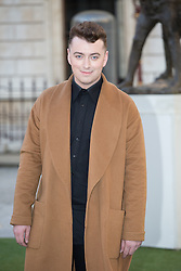 Image ©Licensed to i-Images Picture Agency. 04/06/2014. London, United Kingdom. Royal Academy Summer Exhibition Preview Party. Sam Smith arrives to the Summer Exhibition Preview Party at the Royal Academy of Arts. Picture by Daniel Leal-Olivas / i-Images