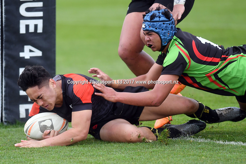 Kerei Ranginui, Manukura v Aorere College, NZRL National Secondary Schools Rugby League Championships, Day 3. Bruce Pulman Park, Auckland. 6 September 2017. Copyright Image: Andrew Cornaga / www.photosport.nz