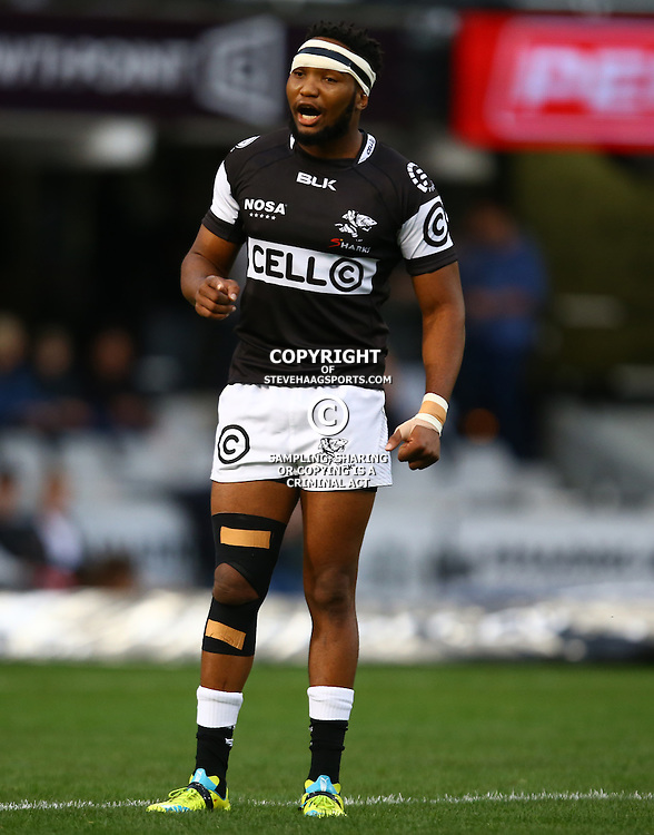 DURBAN, SOUTH AFRICA - SEPTEMBER 10: Lukhanyo Am of the Cell C Sharks during the Currie Cup match between the Cell C Sharks and Toyota Cheetahs at Growthpoint Kings Park on September 10, 2016 in Durban, South Africa. (Photo by Steve Haag/Gallo Images)