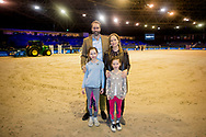 28-01-2018 Amsterdam princess Irene Princess Margarita de Bourbon de Parme and Tjalling ten Cate and Julia (l) and Paola (r) during Jumping Amsterdam in the RAI in Amsterdam. ROBIN UTRECHT