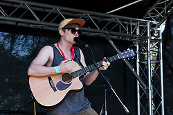 NEWTOWN, WALES - Sunday, May 6, 2018: Alex Evans performs on the music stage before the FAW Welsh Cup Final between Aberystwyth Town and Connahs Quay Nomads at Latham Park. (Pic by Paul Greenwood/Propaganda)