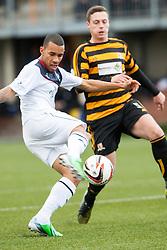 Falkirk's Phil Roberts.<br /> Alloa Athletic 0 v 0 Falkirk, Scottish Championship 12/10/2013. played at Recreation Park, Alloa.<br /> &copy;Michael Schofield.