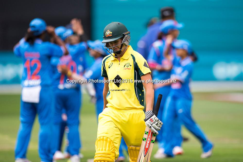 Australia's Beth Mooney during the Women's Twenty20 match between Australia and India at the MCG in Melbourne, Australia. Friday 29 January 2016. Copyright photo: Raghavan Venugopal / www.photosport.nz