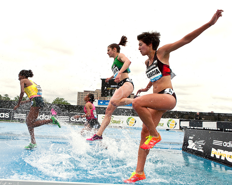 adidas Grand Prix Diamond League professional track & field meet: womens 3000 meter steeplechase, Stephanie GARCIA, USA