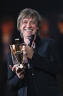 PARIS, FRANCE - FEBRUARY 13:  Jean-Louis Aubert Receives award during  Les Victoires De La Musique at Le Zenith on February 13, 2015 in Paris, France.  (Photo by Tony Barson/FilmMagic)