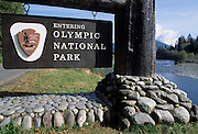 Entrance Sign, Olympic, Olympic National Park, Washington