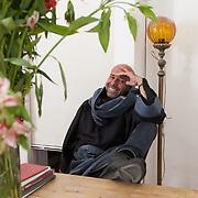 """Mexico City, Mexico, January 13, 2018. The Mexican writer,Mario Bellatin, whose book """"Salon de Belleza"""" (1994), was nominated in 2007 by a team of selected Latin American and Spanish writers and critics, as being among the 100 best books in the Hispanic language of the latest 25 years.<br /> Città del Messico, Messico, 13 Gennaio 2018. Mario Bellatin, scrittore Messicano. Il suo libro """"Salon de Belleza"""" (1994) è stato nominato tra i 100 migliori libri in scrittura spagnola degli ultimi 25 anni da un gruppo di selezionati critici e scrittori Latino Americani."""