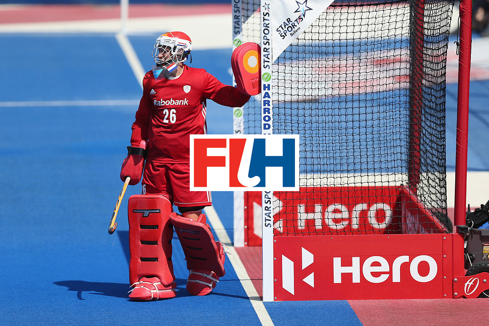 LONDON, ENGLAND - JUNE 20:  Pirmin Blaak of the Netherlands during the Pool B match between India and the Netherlands on day six of the Hero Hockey World League Semi-Final at Lee Valley Hockey and Tennis Centre on June 20, 2017 in London, England.  (Photo by Alex Morton/Getty Images)