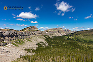 Looking north along the Chinese Wall in the Bob Marshall Wilderness, Montana, USA