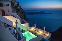 Hotel Sunny Villas, Imerovigli, Santorini, Greece.