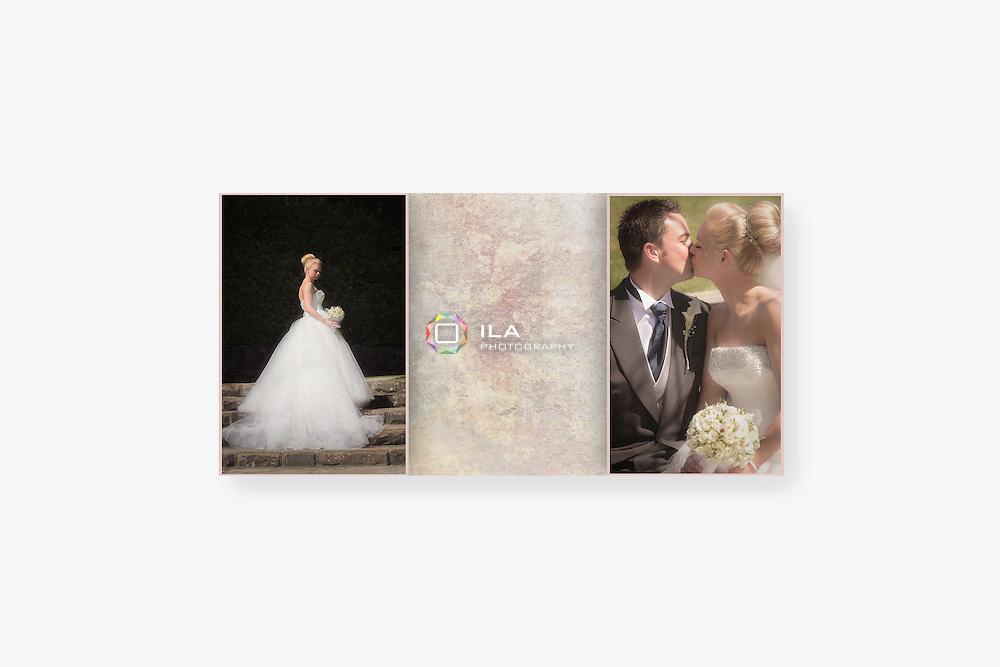 Wedding album spread designs by Stockport wedding photographer Camila Clarke | ilaphotography