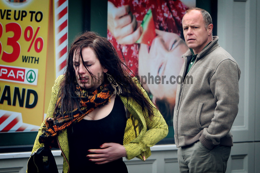 Fair City Eps 83<br /> TX Thursday 17th May 2012 <br /> Caoimhe lies about her absence from work<br /> L &ndash; R<br /> Caoimhe - Aoibhinn McCaul<br /> Pete - Enda Oates