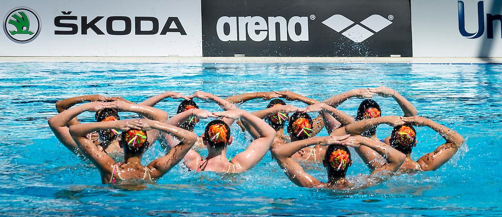 Veneto B. Montebelluna<br /> Preliminari Combo<br /> Campionato assoluto estivo nuoto sincronizzato<br /> 6-8 Giugno 2014<br /> Roma, Foro Italico<br /> Day02<br /> Photo Pasquale Mesiano/Deepbluemedia/Insidefoto