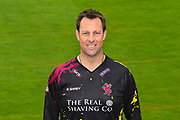 Head shot.  Marcus Trescothick wearing the Somerset Vitality Blast kit at the media day at Somerset County Cricket Club at the Cooper Associates County Ground, Taunton, United Kingdom on 11 April 2018. Picture by Graham Hunt.