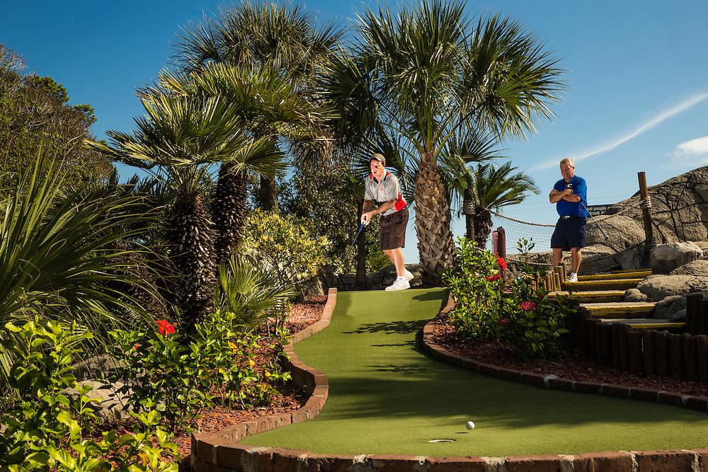 Mini Golf: USPMGA Masters National Championship<br /> day three<br /> Hawaiian Rumble Golf Course/North Myrtle Beach, SC, USA<br /> 10/17/2015<br /> X159981 TK3<br /> Credit: Darren Carroll
