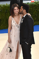 Selina Gomez and The Weeknd attend The Metropolitan Museum of Art Costume Institute Benefit celebrating the opening of Rei Kawakubo / Comme des Garcons : Art of the In-Between held at The Metropolitan Museum of Art in New York, NY, on May 1, 2017. (Photo by Steven Ferdman) *** Please Use Credit from Credit Field ***