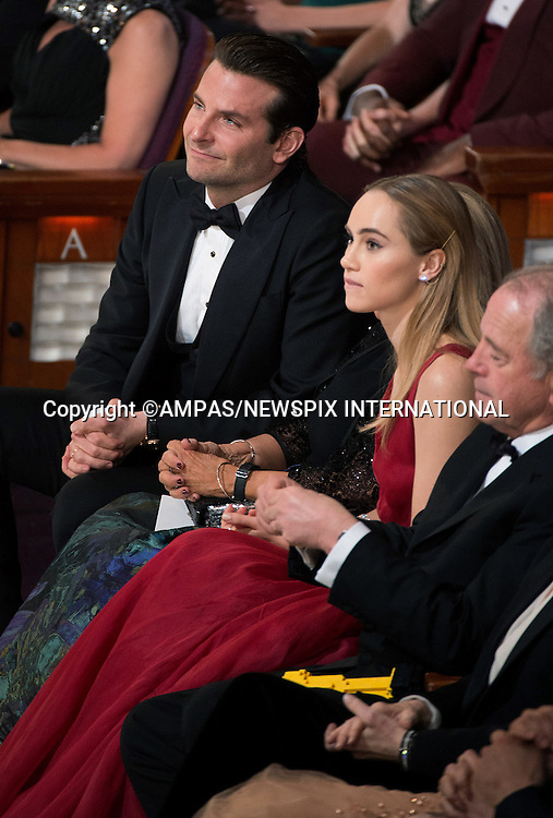 22.02.2015; Hollywood, California: 87TH OSCARS - SUKI WATERHOUSE AND BRADLEY COOPER<br /> <br /> watch the Annual Academy Awards Telecast, Dolby Theatre, Hollywood.<br /> Mandatory Photo Credit: NEWSPIX INTERNATIONAL<br /> <br />               **ALL FEES PAYABLE TO: &quot;NEWSPIX INTERNATIONAL&quot;**<br /> <br /> PHOTO CREDIT MANDATORY!!: NEWSPIX INTERNATIONAL(Failure to credit will incur a surcharge of 100% of reproduction fees)<br /> <br /> IMMEDIATE CONFIRMATION OF USAGE REQUIRED:<br /> Newspix International, 31 Chinnery Hill, Bishop's Stortford, ENGLAND CM23 3PS<br /> Tel:+441279 324672  ; Fax: +441279656877<br /> Mobile:  0777568 1153<br /> e-mail: info@newspixinternational.co.uk
