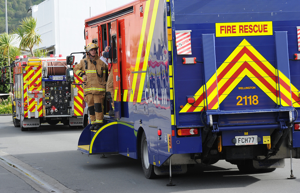 Fire Services command hazmat appliance, Porirua, Sunday, June 02, 2013. Credit:SNPA / Ross Setford