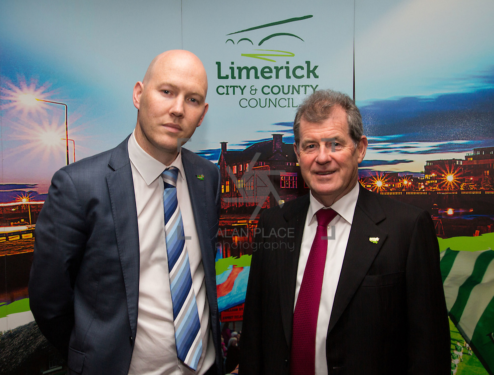 11.10.2016         <br /> Pictured at the Grand Final of the Limerick Going for Gold 2016 Awards were, Gordon Daly, Director of Services Limerick City and County Council and JP McManus. Picture: Alan Place