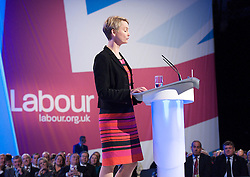 Yvette Cooper MP, Shadow Home Secretary speech during the Labour Party Conference in Manchester, October 3, 2012. Photo by Elliott Franks / i-Images.