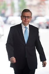 © Licensed to London News Pictures. 08/05/2016. London, UK. Lord Chancellor Secretary of State for Justice MICHAEL GOVE MP arrives at BBC Broadcasting House in London to appear on the Andrew Marr Show. Photo credit: Ben Cawthra/LNP
