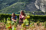 Shooting for Les Fils Maye at Clos des Saracen, Chanson with kids in a new vineyards