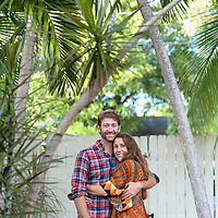 Save the Date with Stephanie Mudd & Geoff Douglass pictured at their home in West Palm Beach, Florida.