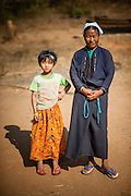 Pao tribe mother and daughter (Myanmar)
