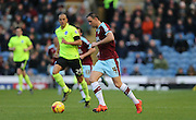 Burnley defender Michael Duff (4) during the Sky Bet Championship match between Burnley and Brighton and Hove Albion at Turf Moor, Burnley, England on 22 November 2015.