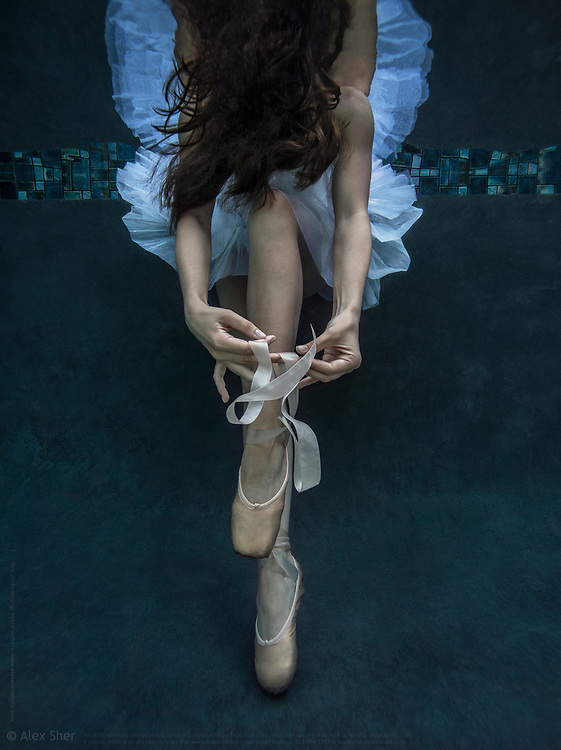 An underwater photo taken in pool in 2017 in Los Angeles