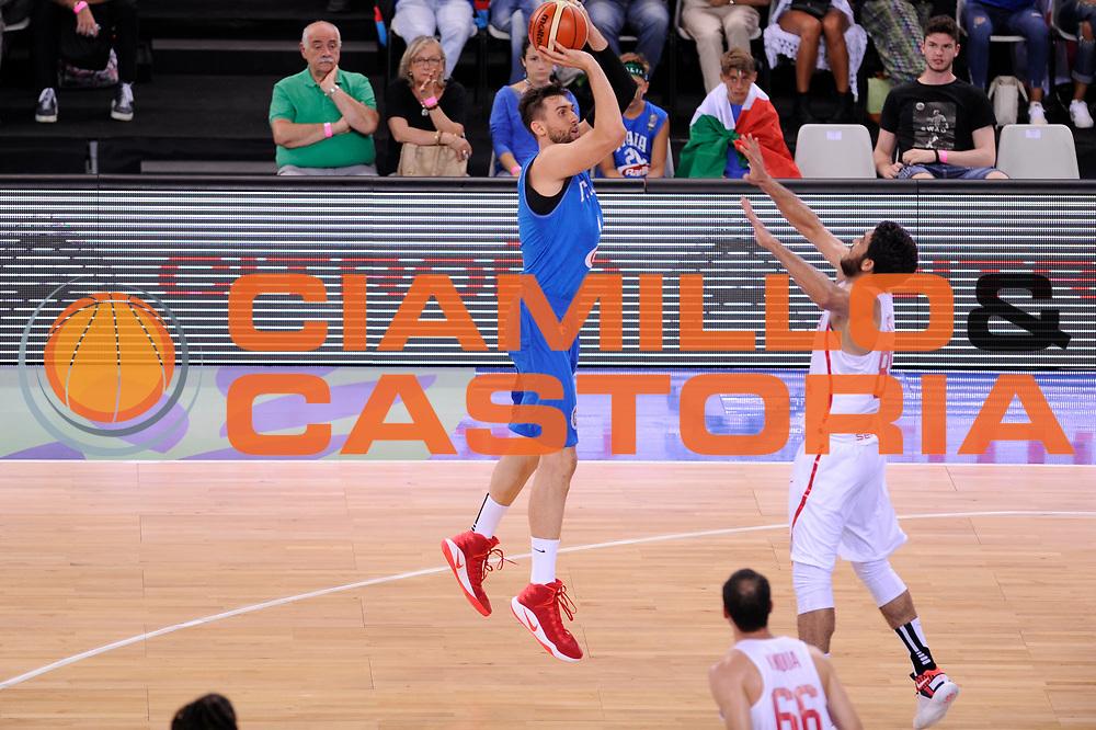 DESCRIZIONE: Torino FIBA Olympic Qualifying Tournament Italia - Tunisia<br /> GIOCATORE: Andrea Bargnani<br /> CATEGORIA: Nazionale Italiana Italia Maschile Senior<br /> GARA: FIBA Olympic Qualifying Tournament Italia - Tunisia<br /> DATA: 04/07/2016<br /> AUTORE: Agenzia Ciamillo-Castoria