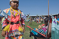 Crow Indian girl at Crow Fair Powwow, Crow Indian Reservation, Montana